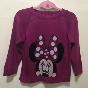 Other - NWOT Girls Mini Mouse Magenta Sweater Size 5/6